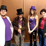 The Four Wonkas: Edward Fernandez, Van Nguyen, Katherine Orozco, & Victoria Grimm