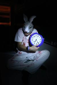 Trujillo as the White Rabbit.