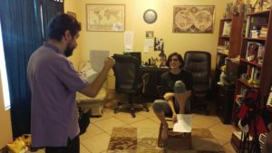 """Rehearsal pic of Julio Martinez directing Katy in """"Unending..."""""""