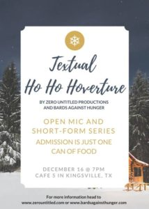 Official Textual HO HO HOverture flyer.